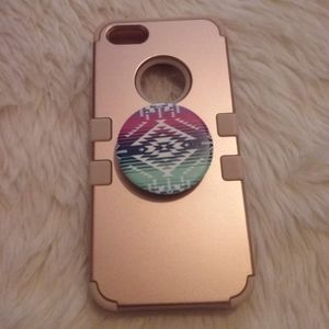 iPhone 5s Case with Popsocket